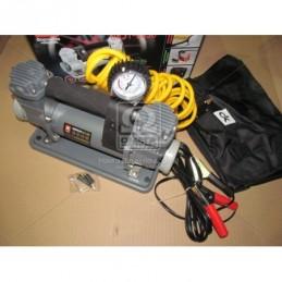 Компрессор 12V 10Атм 150л/мин 2-х поршневой  клеммы  шланг 5м  DK31-003B
